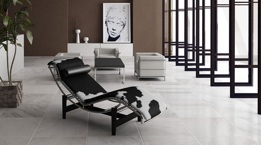 Le corbusier lc4 chaise longue pony skin black white or for Chaise longue pony lc4 le corbusier